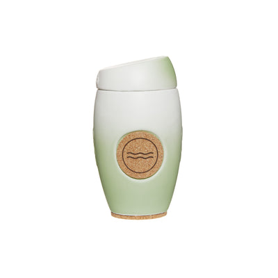 Oblo cup, ceramic reusable coffee cup, Vida colour