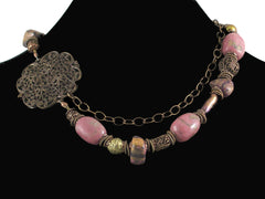 Large Rhodonite Stone Choker (Web-148)