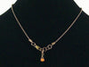 Antiqued ball chain with Hill tribe Lotus charm (Web-165)