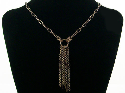 Antiqued chains with chain-fringe drop (Web-174)