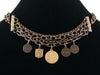Antiqued Multi-strand Chain Drop Choker with Charms (Web-184)