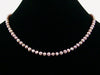 Single-strand Mauve Pearl Necklace (Web-187)