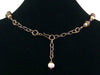 Antiqued multi stone and pearl drop choker (Web-252)