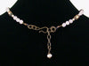 Antiqued Rose quartz and pearl drop choker  (Web-254)