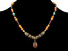 Antiqued Carnelian and multi stone drop choker (Web-255)