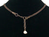 2-Strand Antiqued chain & leather Choker (Web-258)