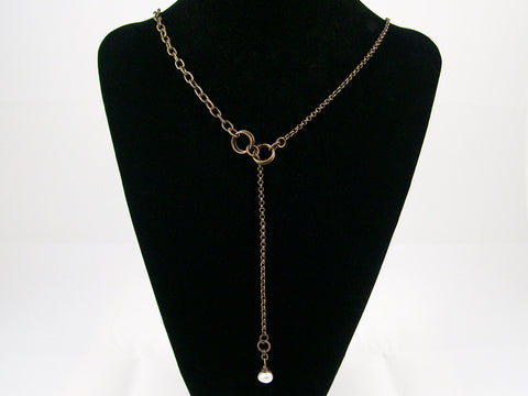 Antiqued Chains with Pearl drop (Web-261)