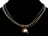 3-Strand Crystal Choker with Charms & Leather (Web-276)