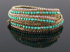 Wrap bracelet with cord and beads (Web-285)