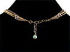 3-Strand Crystal Choker with Charms & Leather (Web-297)