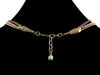 3-Strand Crystal Choker with Charms & Leather (Web-33)