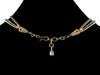 3-Strand Crystal Choker with Charm & Leather (Web-38)