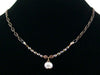 2-Strand Antiqued Chain Choker with Crystal & Drop (Web-39)