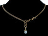 2-Strand Antiqued Chain Choker with Stone & Crystal Drop (Web-44)