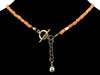 Carnelian square choker necklace with Lotus charm (Web-45)