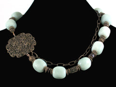 Large Amazonite Stone Choker (Web-60)