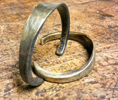 One-Year Anniversary Hand-Forged Brass Cuff