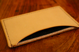 Denim and Leather Card Holder