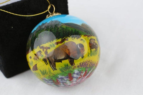 CSP HAND PAINTED GLASS ORNAMENT