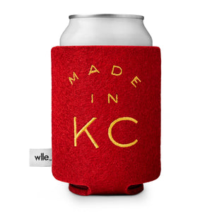 wlle™ Drink Sweater - Made in KC - Cherry Red and Gold