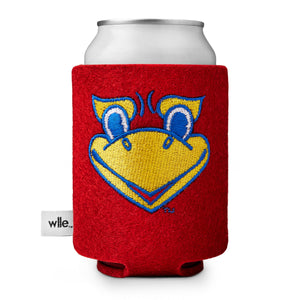 University of Kansas wlle™ Drink Sweater - Beak 'Em - Cherry Red