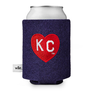 Charlie Hustle + wlle™ Drink Sweater - Heart KC - Navy and Red