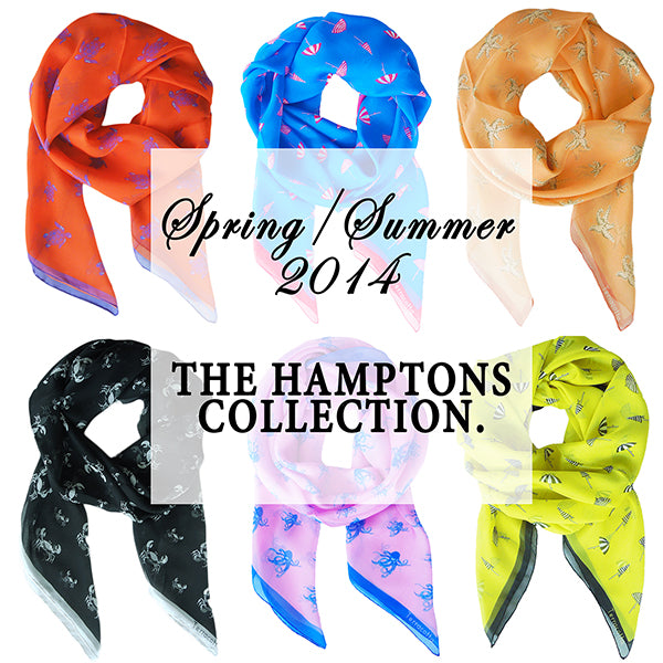 Introducing Terracotta's SS'14 Hamptons Silk Scarves Collection