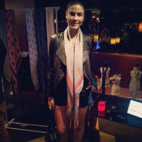Hong Kong Prive Nightclub Fashion event: Terracotta New York's Ettie Elephant Silk Scarf