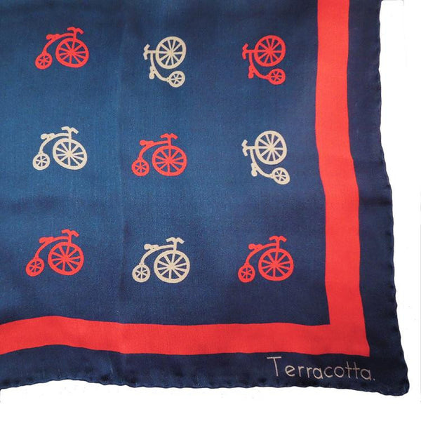 Bailey Bicycle Silk Scarf - Terracotta New York