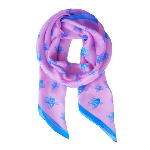 Oakley Octopus Silk Scarf - Terracotta New York