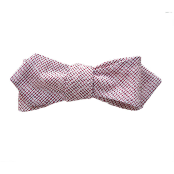 Chase Red Checkers Women's Bowtie. - Terracotta New York