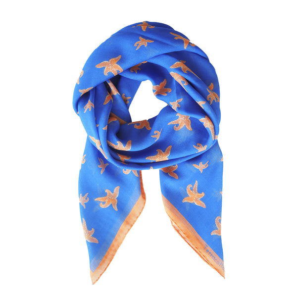 Sable Starfish Silk Scarf - Terracotta New York
