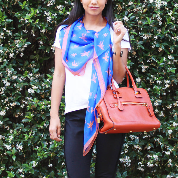 Silk Scarf Howto Tutorial for Casual Side Drape