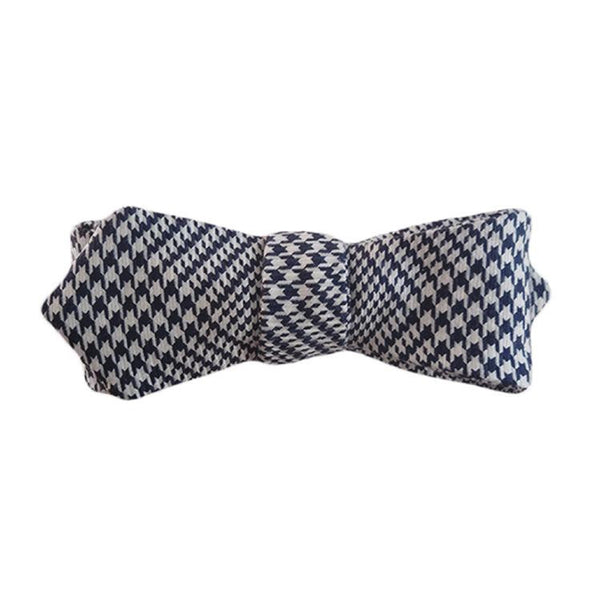 Harper Navy Houndstooth Women's Bowtie. - Terracotta New York