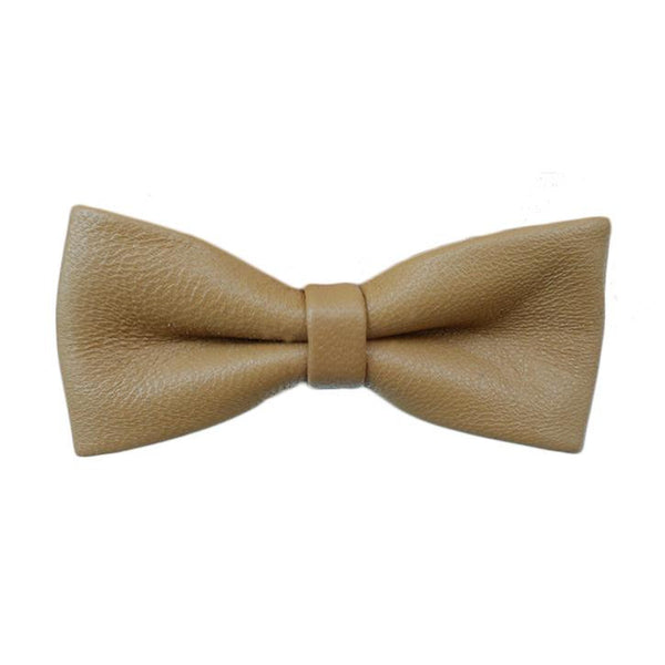 Leighton Camel Leather Women's Bowtie. - Terracotta New York