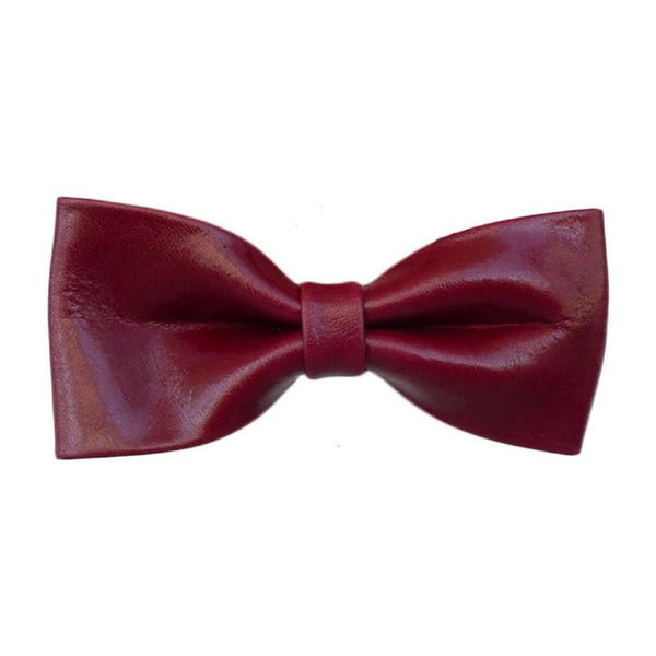 Leighton - Red Leather Women's Bowtie. - Terracotta New York