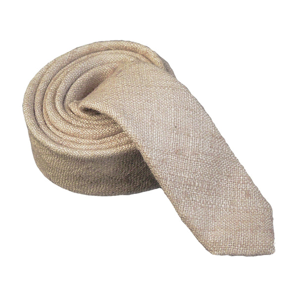 Taylor Sand Beige Women's Necktie. - Terracotta New York
