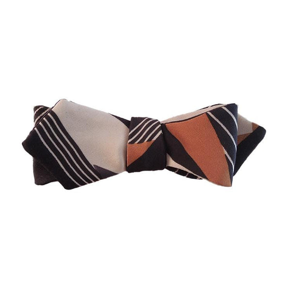 Tracey Tribal Silk Women's Bowtie. - Terracotta New York