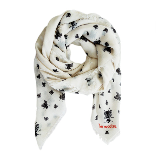 Farley Fly Cashmere Scarf - Terracotta New York