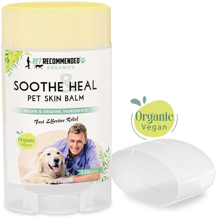 Soothe & Heal Balm for Pets - Organic & Vegan Ingredients to Relieve Skin Irritations Fast. (2oz) Made in USA.