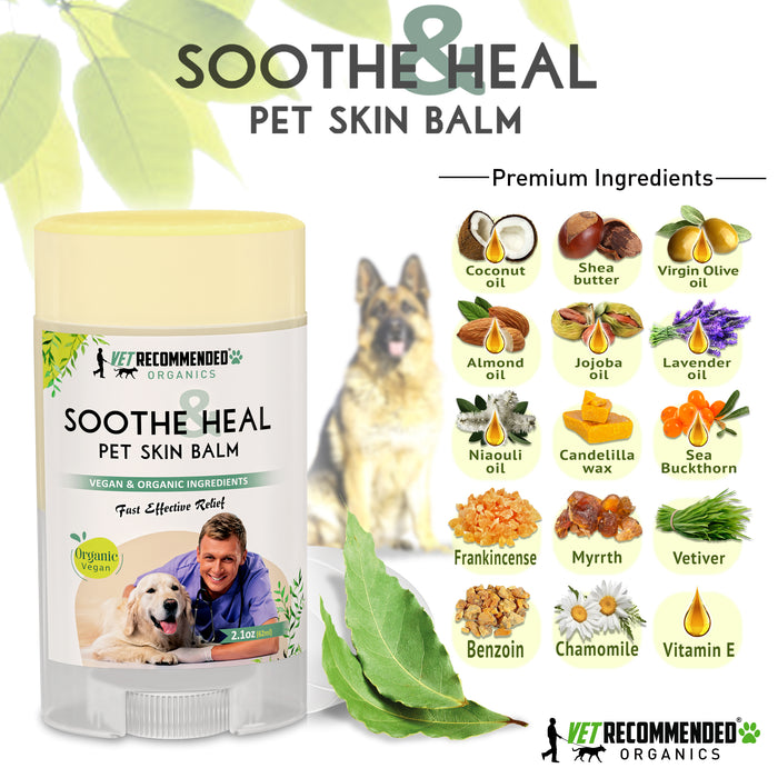 Soothe & Heal Balm for Pets - Organic & Vegan Ingredients - 2oz/59ml
