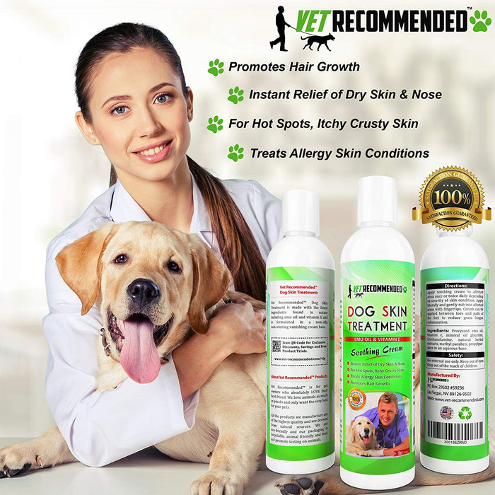 Dog Dry Skin Treatment - Helps Dog Hair Loss Regrowth & Dry Skin -8oz/240ml