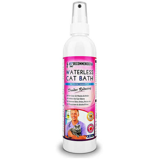 Vet Recommended - Waterless Cat Shampoo - Detergent and Alcohol Free - Apple Extract Dry Cat Shampoo Spray to Clean, Moisturize & Help Cat Dander. USA Made (8oz/240ml)