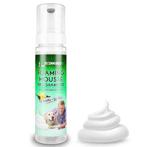 Vet Recommended - Waterless Dog Shampoo - No Rinse Dry Foam Spray Mousse - Vanilla Whip - Made in USA (8oz/240ml)