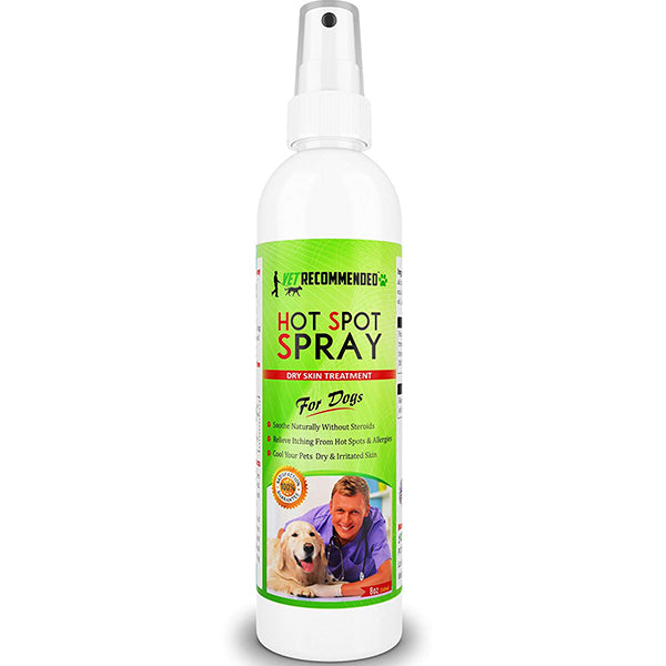 Hot Spot Treatment For Dogs - All Natural Anti-Itch for Allergies Relief - 8oz/240ml