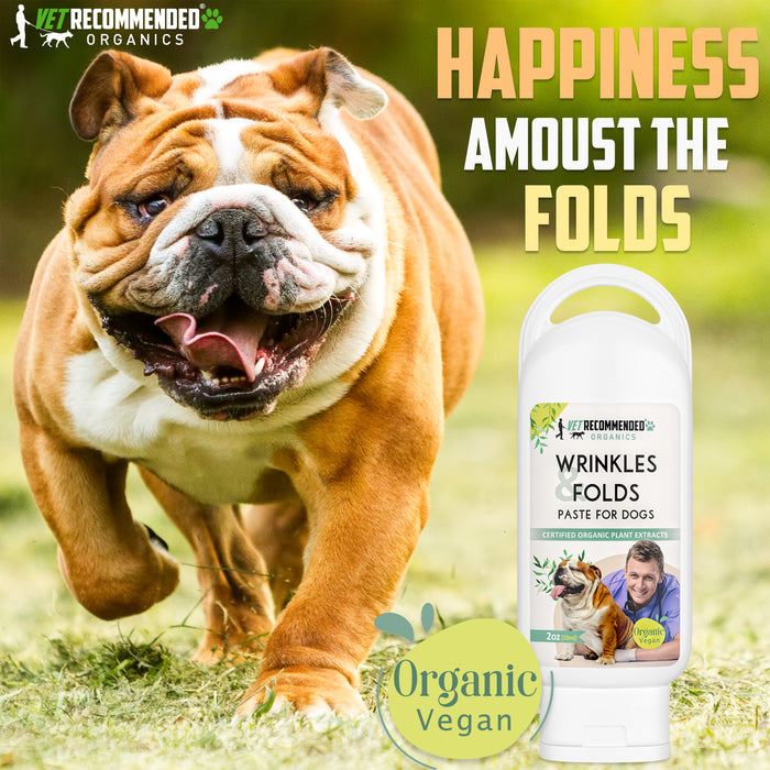 Organic Vegan Wrinkle Cream for Bulldogs - Pugs, Frenchies  - 2oz/59ml