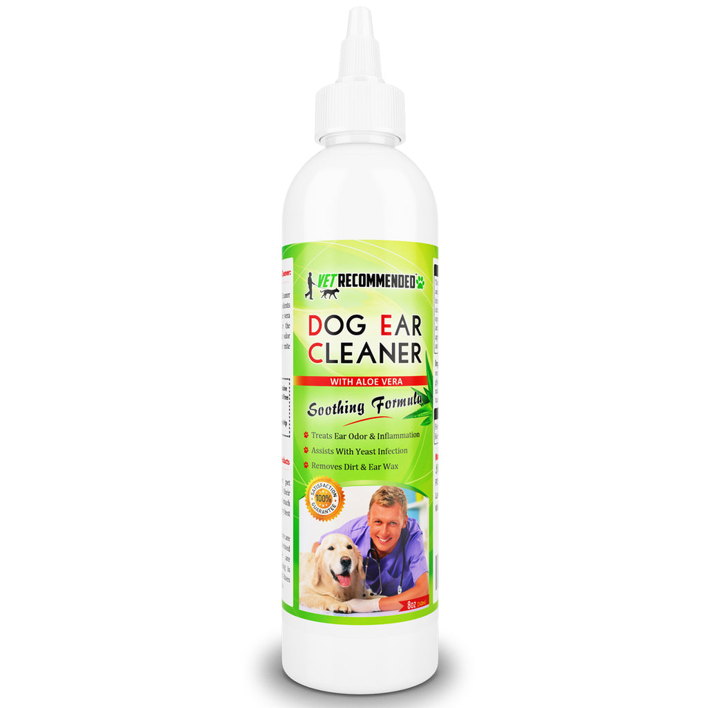 Dog Ear Cleanser - With Natural Aloe Vera - 8oz/240ml