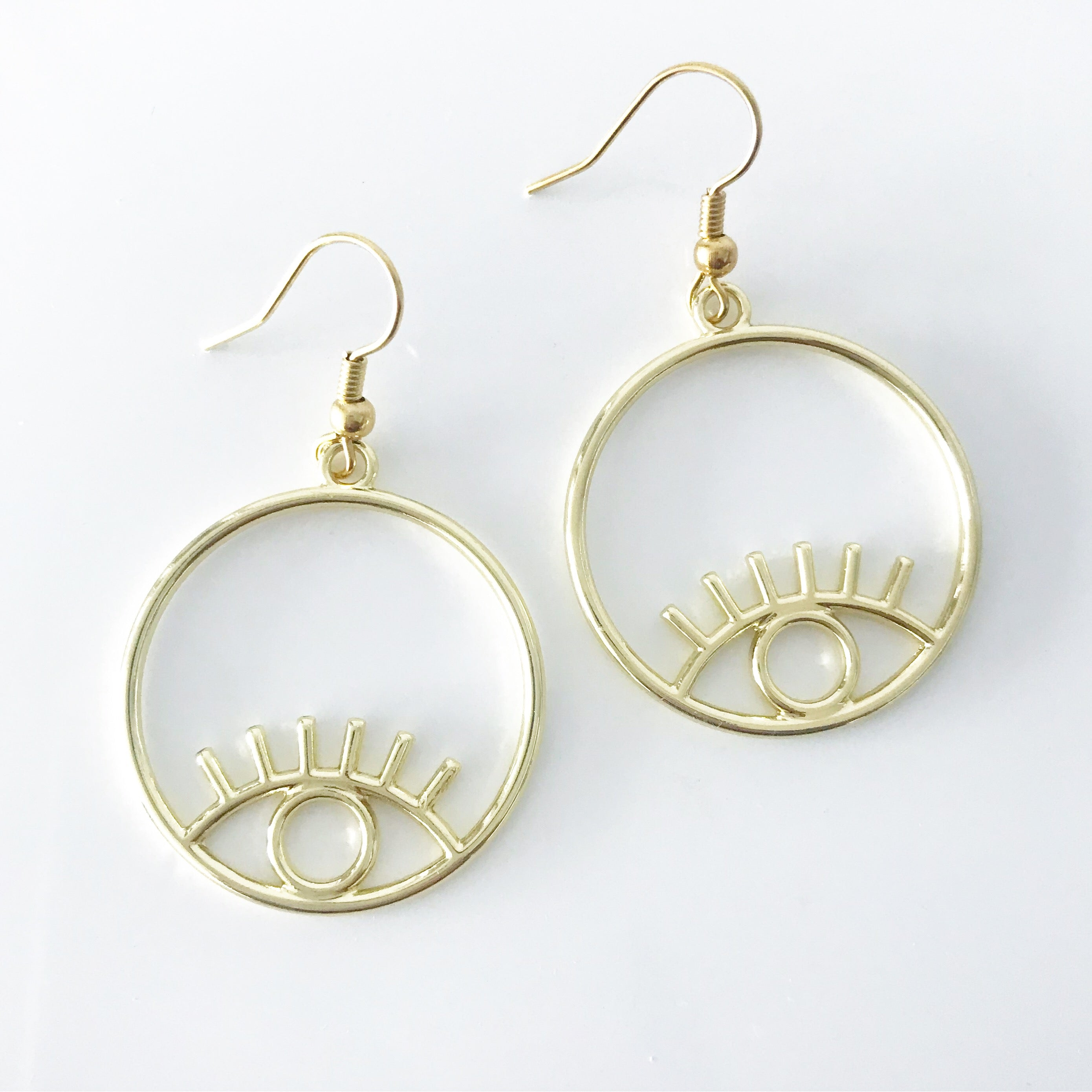 Circle Evil Eye Earrings