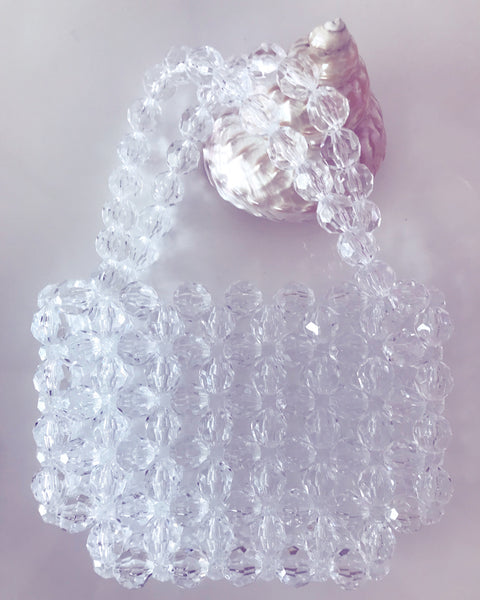 Mini Clear Bead Purse