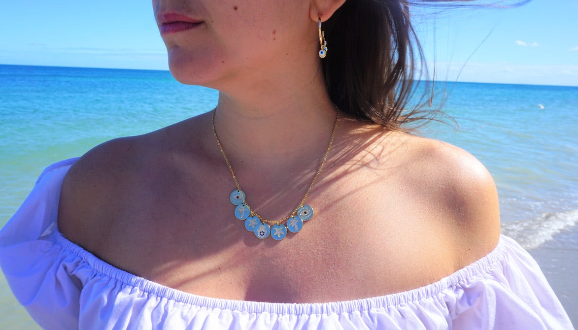 Mykonos Charm Necklace